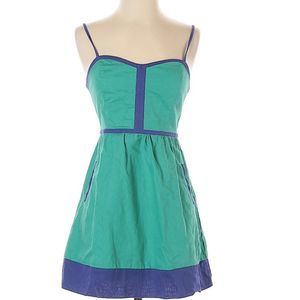 Urban Outfitters | Cope blue & green short dress